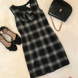 LOFT Black & Grey Plaid Dress